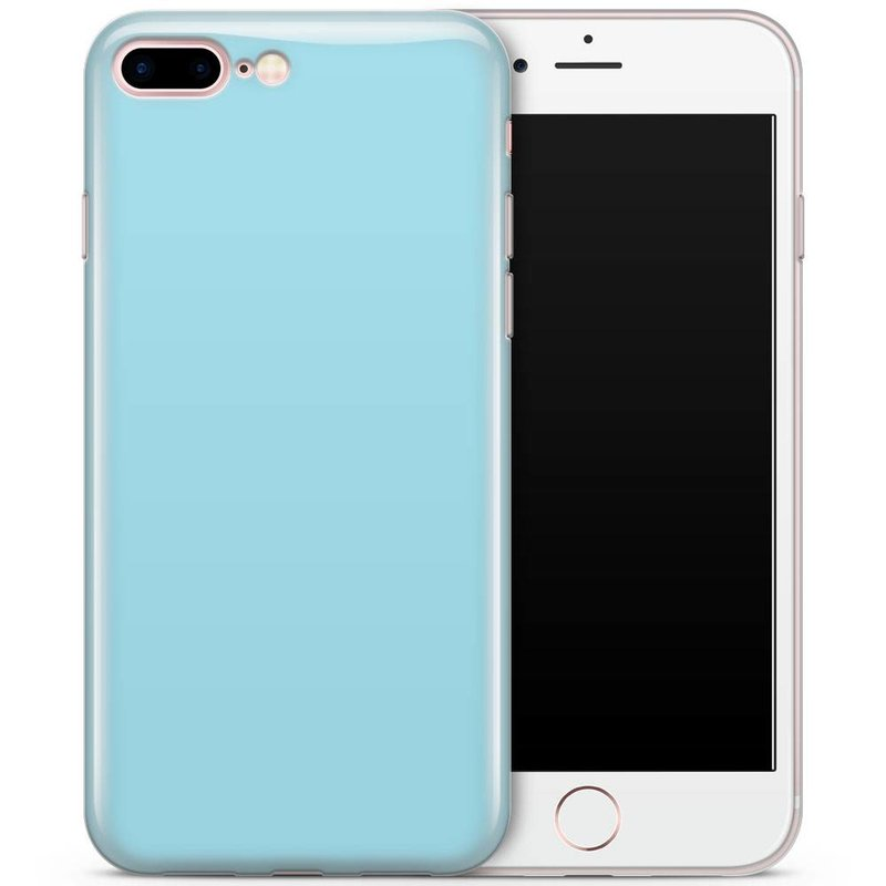 iPhone 7 Plus / iPhone 8 Plus siliconen hoesje - blauw