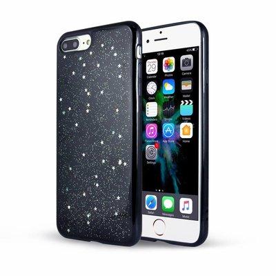 Casimoda iPhone 7 Plus / iPhone 8 Plus zwart hoesje - Sweet stars