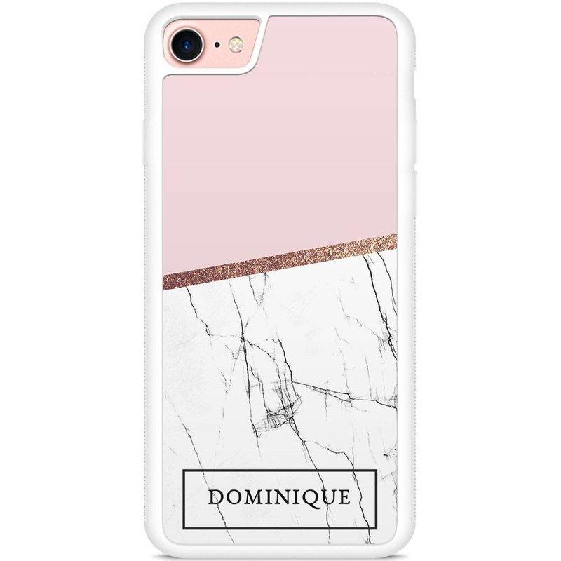 Casimoda Telefoonhoesje met naam - Pink time