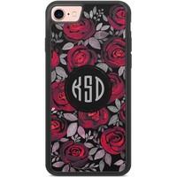 Casimoda Telefoonhoesje met monogram - Rode rozen