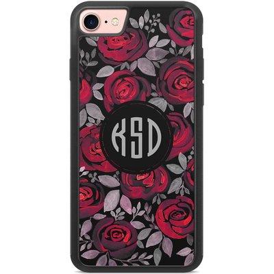 Casimoda Hoesje met monogram - Rode rozen