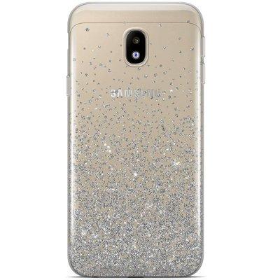 Casimoda Samsung Galaxy J5 2017 siliconen hoesje - Falling glitters