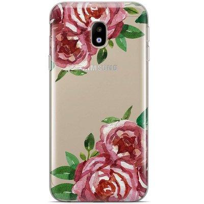 Casimoda Samsung Galaxy J5 2017 siliconen hoesje - Rode rozen