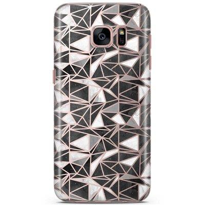 Casimoda Samsung Galaxy S7 siliconen hoesje - Black stone