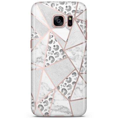 Casimoda Samsung Galaxy S7 siliconen hoesje - Stone & leopard print