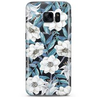 Samsung Galaxy S7 siliconen hoesje - Touch of flowers