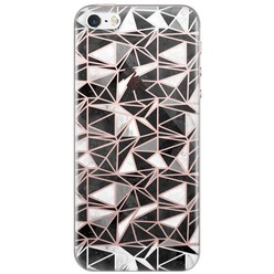 iPhone 5/5s/SE siliconen hoesje - Abstract blocks