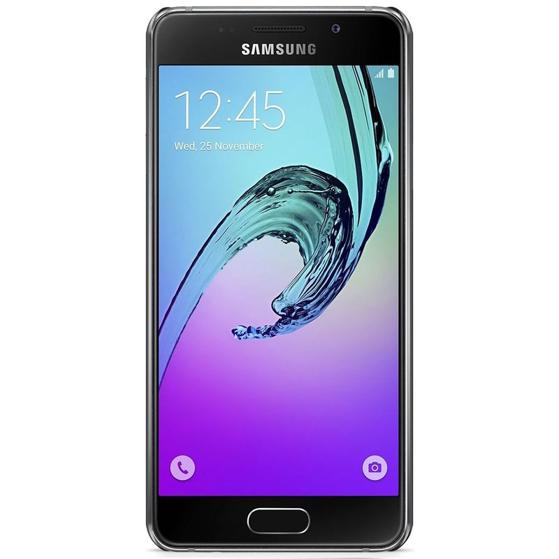 Samsung Galaxy A3 2016 hoesje - Marmer zwart