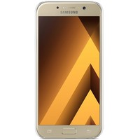 Samsung Galaxy A5 2017 hoesje - Geo blocks on wood