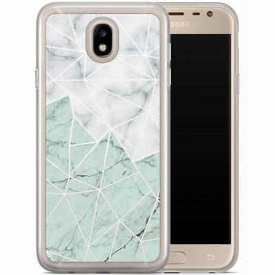 Casimoda Samsung Galaxy J7 2017 siliconen hoesje - Marmer mint mix