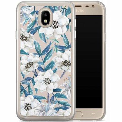 Casimoda Samsung Galaxy J7 2017 siliconen hoesje - Touch of flowers