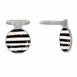 Zilveren telefoon ring houder - Hart streepjes