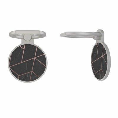 Casimoda Zilveren telefoon ring houder - Marble grid