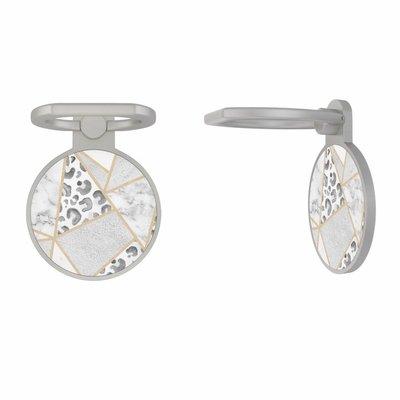 Casimoda Zilveren telefoon ring houder - Stone & leopard print