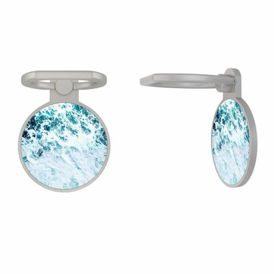 Casimoda Zilveren telefoon ring houder - Oceaan