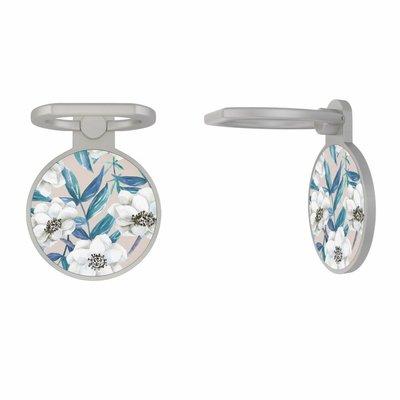 Casimoda Zilveren telefoon ring houder - Touch of flowers