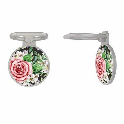 Casimoda Zilveren telefoon ring houder - Rose story