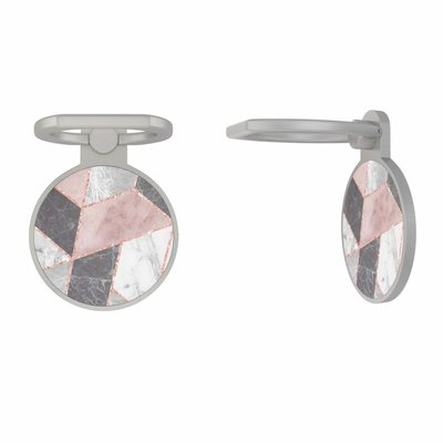 Casimoda Zilveren telefoon ring houder - Stone grid