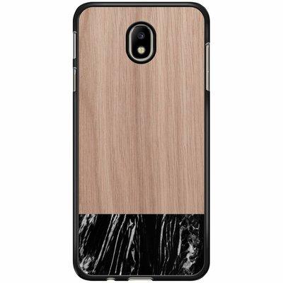 Casimoda Samsung Galaxy J3 2017 hoesje - Marmer zwart wood