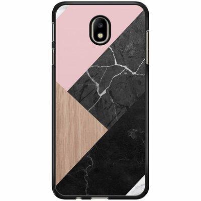 Casimoda Samsung Galaxy J3 2017 hoesje - Marble wooden mix