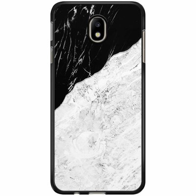 Casimoda Samsung Galaxy J3 2017 hoesje - Marmer zwart grijs