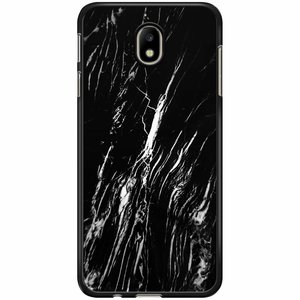 Samsung Galaxy J3 2017 hoesje - Black is my happy color (marmer)