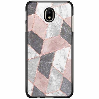 Casimoda Samsung Galaxy J3 2017 hoesje - Stone grid