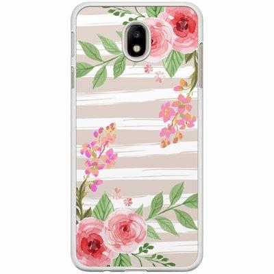 Casimoda Samsung Galaxy J7 2017 hoesje - Blush pink rose