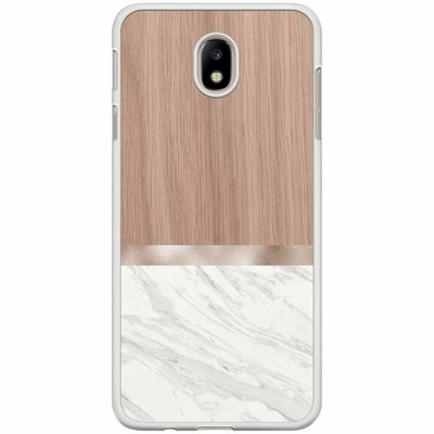 Casimoda Samsung Galaxy J7 2017 hoesje - Marble wood