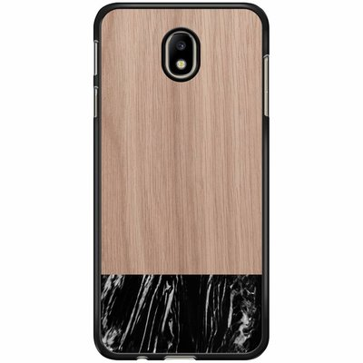 Casimoda Samsung Galaxy J7 2017 hoesje - Marmer zwart wood