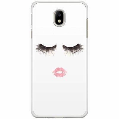 Casimoda Samsung Galaxy J7 2017 hoesje - Fashion eyelashes