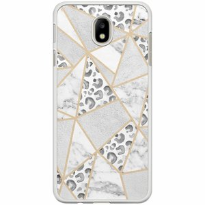 Samsung Galaxy J7 2017 hoesje - Stone & leopard print