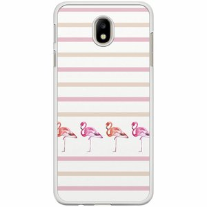 Samsung Galaxy J7 2017 hoesje - Flamingo stripes