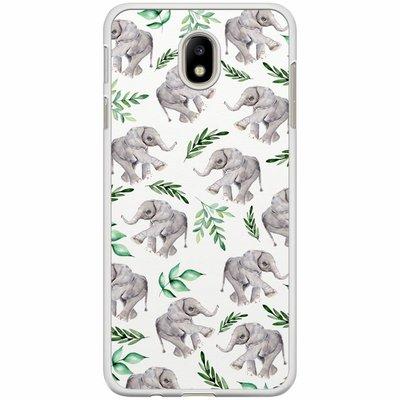 Casimoda Samsung Galaxy J7 2017 hoesje - Floral olifantjes