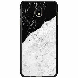 Samsung Galaxy J7 2017 hoesje - Marmer zwart grijs