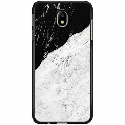 Casimoda Samsung Galaxy J7 2017 hoesje - Marmer zwart grijs