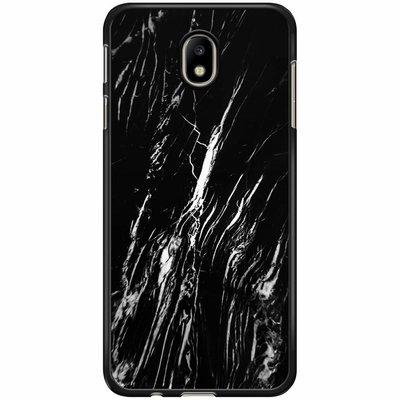 Casimoda Samsung Galaxy J7 2017 hoesje - Black is my happy color (marmer)