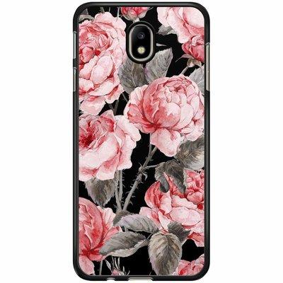 Casimoda Samsung Galaxy J7 2017 hoesje - Moody florals