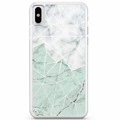 Casimoda iPhone X/XS hoesje - Marmer mint mix