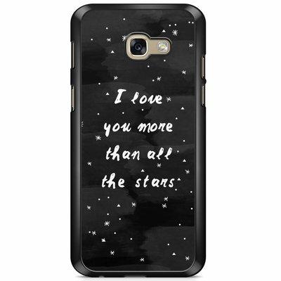 Casimoda Samsung Galaxy A5 2017 hoesje - Stars love quote