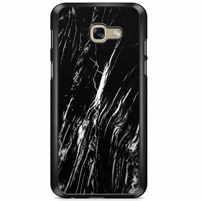 Casimoda Samsung Galaxy A5 2017 hoesje - Black is my happy color (marmer)