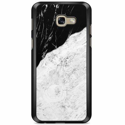 Casimoda Samsung Galaxy A5 2017 hoesje - Marmer zwart grijs