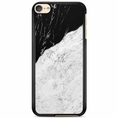 Casimoda iPod touch 6 hoesje - Marmer zwart grijs