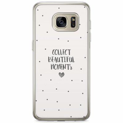 Casimoda Samsung Galaxy S7 siliconen hoesje - Collect beautiful moments