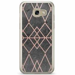 Samsung Galaxy A3 2017 siliconen hoesje - Abstract rose gold