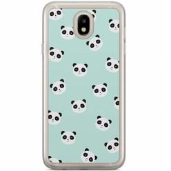 Samsung Galaxy J3 2017 siliconen hoesje - Panda print