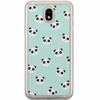 Casimoda Samsung Galaxy J3 2017 siliconen hoesje - Panda print