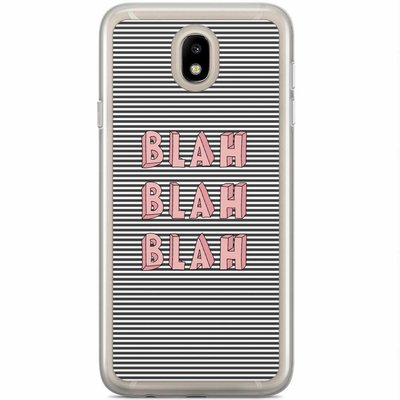 Casimoda Samsung Galaxy J3 2017 siliconen hoesje - Blah blah blah