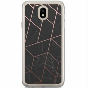 Samsung Galaxy J5 2017 siliconen hoesje - Marble grid