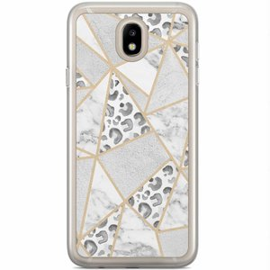 Samsung Galaxy J5 2017 siliconen hoesje - Stone & leopard print